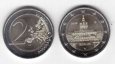 GERMANY NEW ISSUE 2€ UNC COIN 2012 YEAR 10th ANNI EURO CURRENCY DIF MINT MARK
