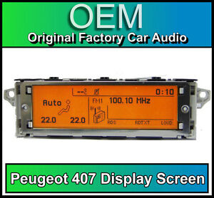 Peugeot-407-display-screen-RD4-radio-LCD-Multi-function-clock-dash