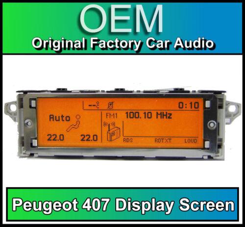 Peugeot 407 display screen RD4 radio LCD Multi function clock dash