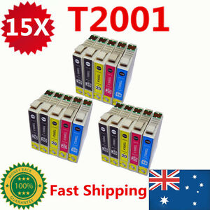 15x-T200XL-T200-2001-Ink-Cartridge-For-Epson-XP-100-200-300-400-310-410-WF-2510