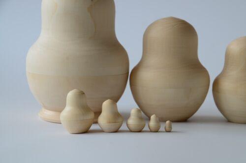 matryoshka babushka russian doll Matryoshka Blank wooden nesting doll 10 pcs
