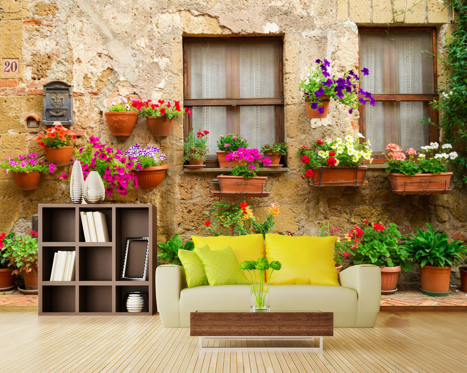 3D Pots Windows 753 Wall Paper Murals Wall Print Wall Wallpaper Mural AU Summer