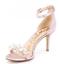 Sam Edelman Platt Pearl Detail Pink Satin Heels Ankle Strap Shoes Size 6 M