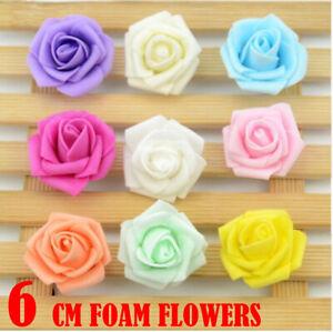 6CM Artificial Flower Heads Large Foam Rose Heads Wedding Decoration