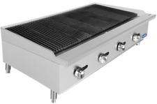 New 48 Char Rock Broiler Reversible Cast Iron Grates Ng Gas Atosa Atcb 48 2545