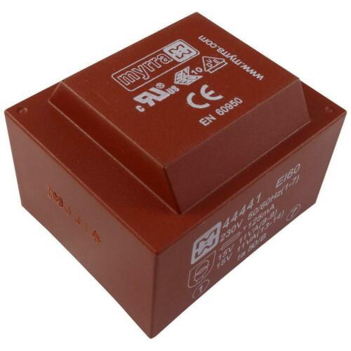 Myrra 44441 transformador 22va 230v 2x15v 2x733ma printtrafo transformador 856501