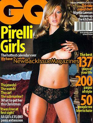 UK GQ 1/01,Gisele Bundchen,January 2001,NEW