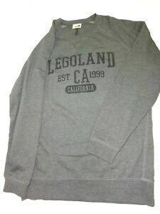 LEGOLAND-California-Sweat-Shirt-Large-USA-Fleece-Long-Sleeves-Gray-46-034-Chest