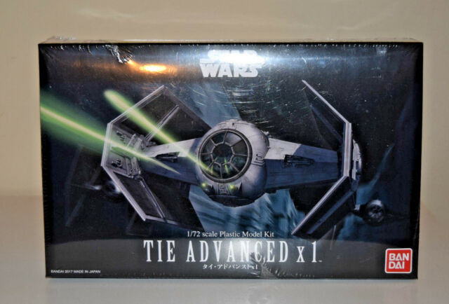 Star Wars TIE Advanced X1 Model Kit Bandai 1/72 Scale A New Hope Ep4 Darth Vader