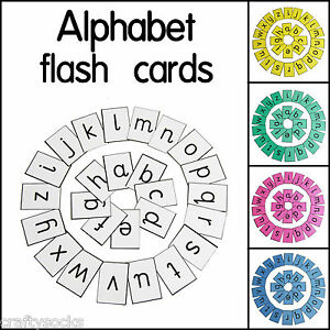 educational alphabet letter flash cards for home school or classroom