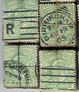 GB-KE7th-1-2d-GREEN-AG01-KILOWARE-BUNDLE-100-Stamps