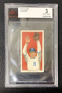 1909 T206 Ed Lennox Brooklyn Superbas (Dodgers) Piedmont BVG 3 VG