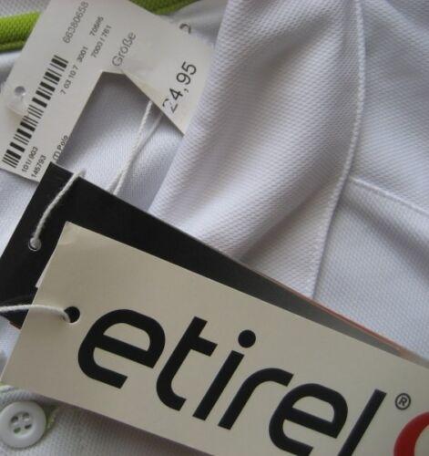 Etirel Men/'s Tennis Jersey Polo Shirt//White//New