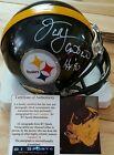 Jack Lambert Autographed  Steelers Mini Helmet  Lambert 58 Hologram