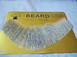 Barbe Cheveux Humain Complet Barbe Gris Clair net Professional Theater Rubis 2024