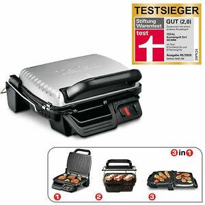 Tefal GC3060 3in1 Kontaktgrill Tischgrill mit Überbackfunktion 2000W Edelstahl