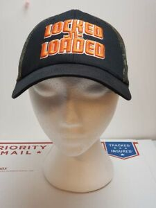 Locked-n-Loaded-Black-Camouflage-Embroidered-Cap-Hat-VGC