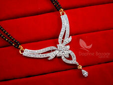 MS13P, Daphne Zircon Studded Designer Mangalsutra for Women, Wedding Jewelry,...