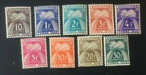 Stamp Andorra Stamp - Yvert and Tellier Tax N° 39 IN 41 N MH (Cyn40)