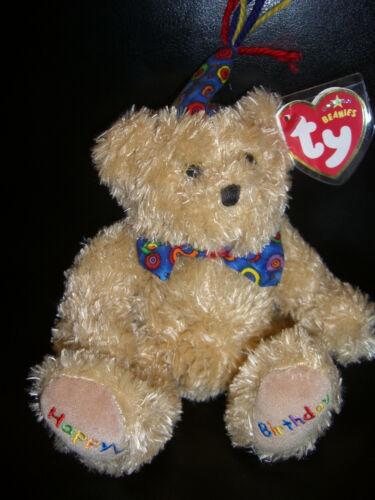 W-F-L Ty Beanie Teddy Selection Birthday Wedding Birth Happy Birthday Bear
