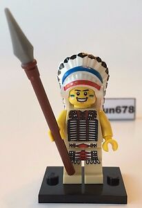 LEGO MINIFIGURES SERIES 3 8803 Tribal Chief Indian