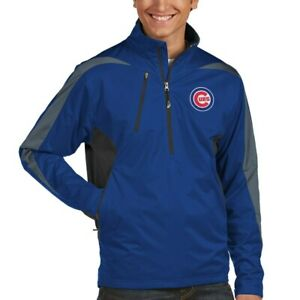 Antigua-MLB-Chicago-Cubs-Royal-Blue-1-4-Zip-Pullover-Jacket-Size-XL