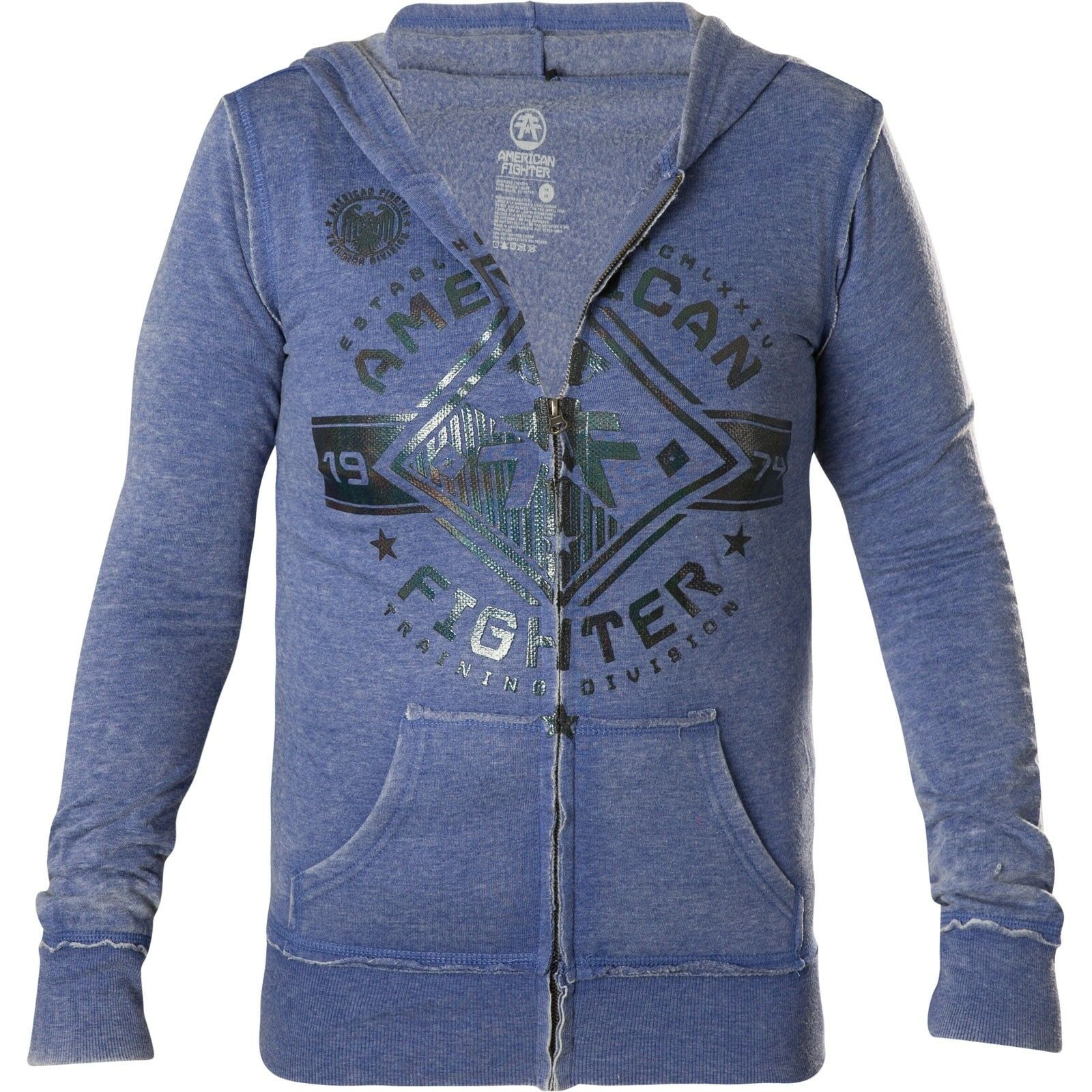American Fighter Affliction Affliction Affliction Donna Hoody Massachusetts giacche blu con 76268e