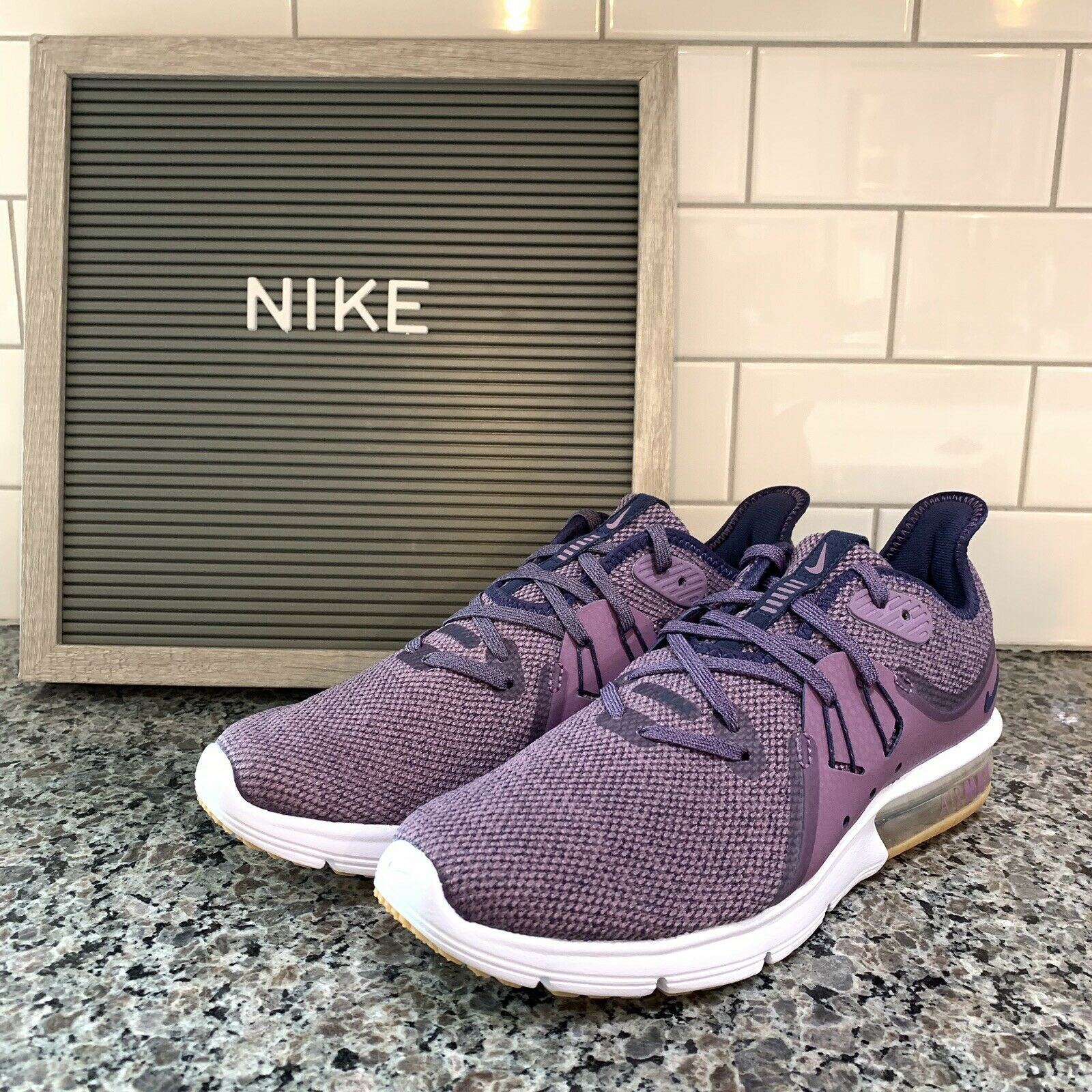Nike Air Max Womens Sequent 3 Running shoes purple 908993 501 Size 7