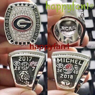 Size 11 7 pcs Collectors Rings of Georgia Bulldogs National CHAMPION football
