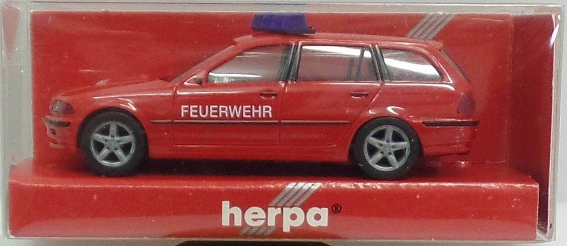 Herpa nº 044653 BMW 3er Touring (e46) POMPIERS-NEUF dans sa boîte