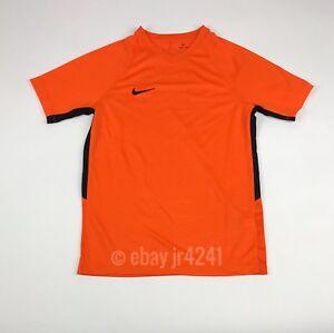 New-Nike-Dry-Short-Sleeve-Shirt-Youth-Unisex-Medium-Orange-Soccer-Jersey-894114