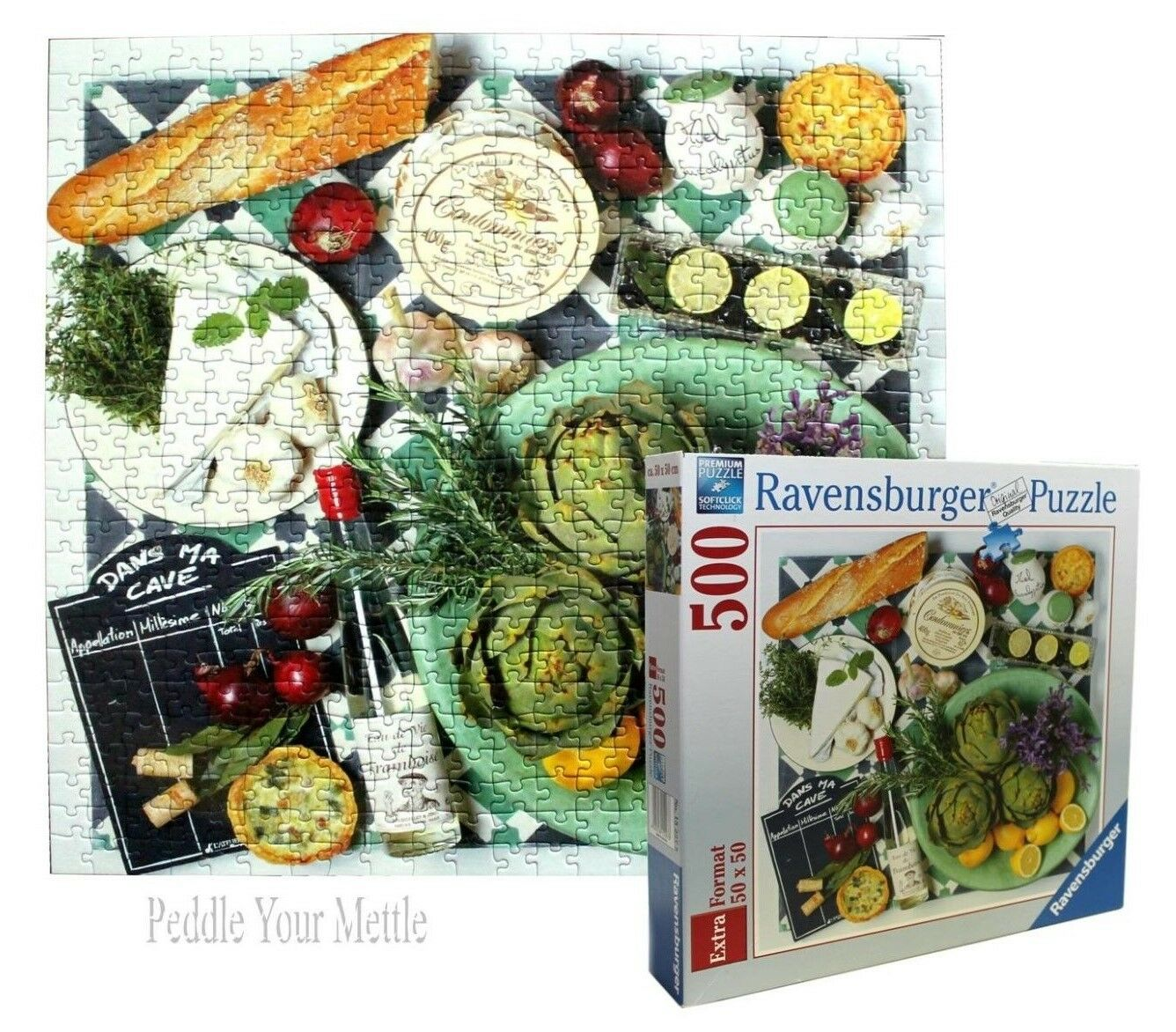 Ravensburger Picnic 500 Piece Jigsaw Puzzle 100% COMPLETE - RARE