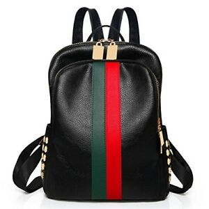 b74697e8d55a26 Image is loading Women-Leather-Backpack-Luxury-Bag-Tote-Gucci-Pattern-