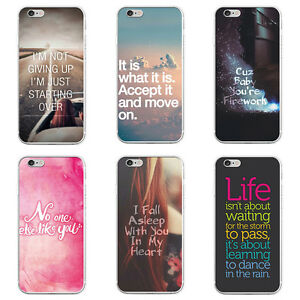 the latest 6587d f248e Details about WORDS MOTTO PRINT PHONE CASE FOR SAMSUNG GALAXY S6 S7 EDGE  PLUS IPHONE 6 DURABLE