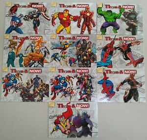 2014-Marvel-NOW-034-Then-amp-Now-034-Complete-10-Card-Insert-Set-Free-Shipping