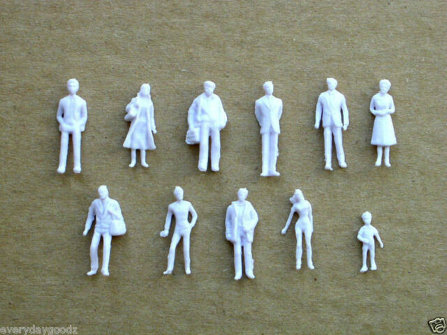 1000pcs Model Trains 1:100 Scale WHITE Figures HO