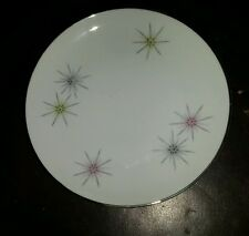 "Mid Century Atomic Bavaria Cathedral Starburst China W. Germany 6"" Bread Plate"