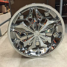 "Set of Lexani Firestar Zirconas Chrome Wheels: 20"" X 8.5"" 5X120 4009205120TC20"
