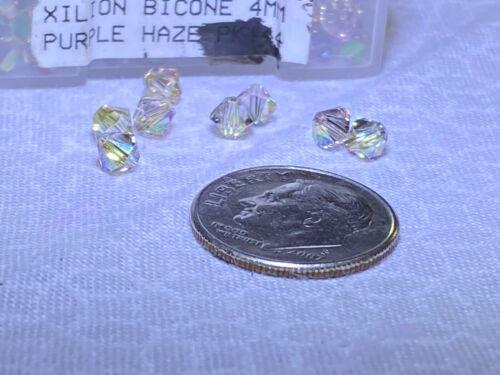 12 pcs Swarovski 4mm XILION PURPLE HAZE Bicone Faceted Beads