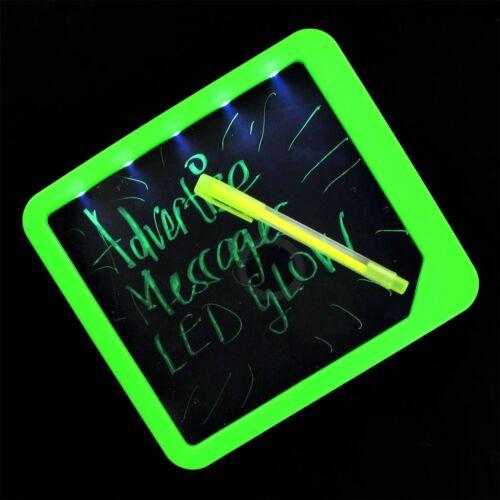 Led fluorescent effaçable à sec tableau de messages avec lumière office home memo note planner