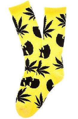 Huf The Huf X Wu-Tang Plantlife Socks in Yellow