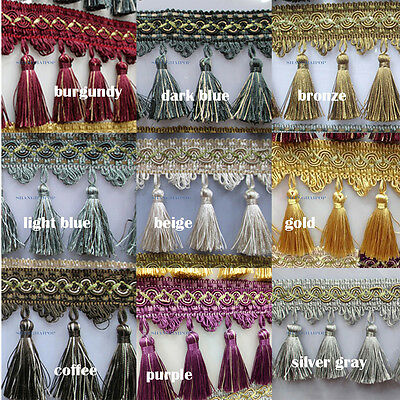 15M Curtain Tassel Fringe Trimming Wedding Upholstery Home Chainette Decorative