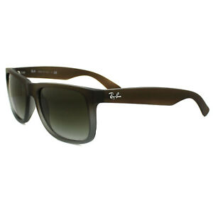 bd553a9b0f Rayban Sunglasses 4165 Rubber Brown On Grey Green Gradient 854 7Z ...