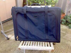Tumi Blue Rolling Suitcase Luggage Travel Garment Bag Large Alpha