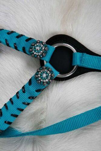 Showman Nylon Bridle Reins Breast Collar Set Crystal Rhinestone Conchos Choice