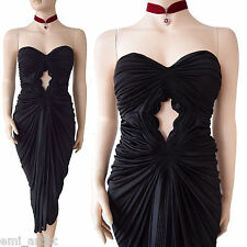 BN SOPHIA KOKOSALAKI COUTURE goddess red carpet Grecian black DRESS size 10 2 42