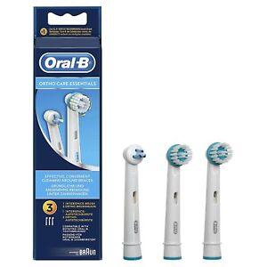 Braun-Oral-B-Ortho-Care-Essentials-3x-Spazzole-Ricariche-ricambio