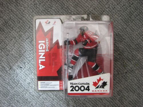 MCFARLANE NHL 2004 M CANADA JAROME IGINLA VARIANT and Calgary Flames Lot of 2
