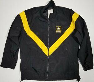 US ARMY PT Jacket Black Fitness APFU Gold Yellow UNISEX/FEMALE CHOOSE SIZE USGI