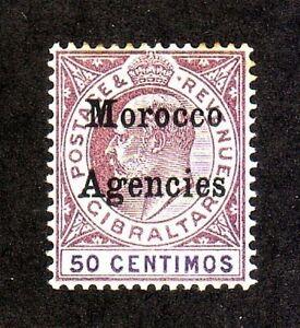 British Morocco: Scott 024, Unused, Hinged, Watermark 2, Rust. BM02